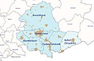 Kaart Gelderland Basis